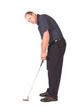 Putting. Following the track of your putt Royalty Free Stock Photos