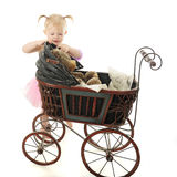 Putting the Buggy Shade Up Stock Image