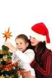 Putting Christmas Star Stock Photos