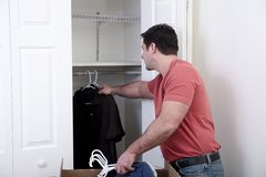 Putting the clothes away Royalty Free Stock Photo