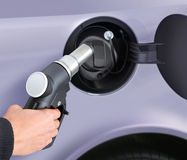Putting gas into the car royalty free stock image