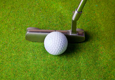 Putting in golf Royalty Free Stock Images