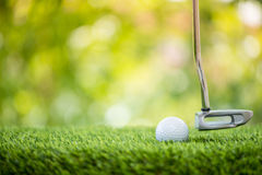 Putting golf ball Stock Photography