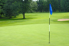Putting green. A putting green on a golf course in Rockland, Canada royalty free stock photos