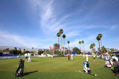 Putting green at the ANA inspiration golf tournament 2015. RANCHO MIRAGE, CALIFORNIA - APRIL 01, 2015 : putting green at the ANA inspiration golf tournament on royalty free stock photography