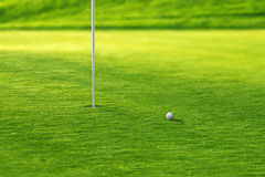 Putting green del golf Imagenes de archivo