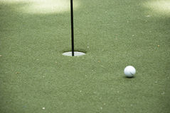 Putting green, golf Royalty Free Stock Photography