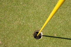 Putting green hole Royalty Free Stock Images