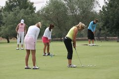 Putting, Ladies European Tour, Castelllon, 2006 Royalty Free Stock Photography