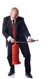 Putting out fires Royalty Free Stock Photos