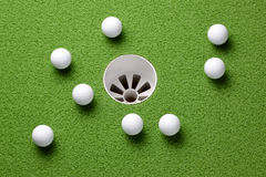 Putting practice Royalty Free Stock Photo