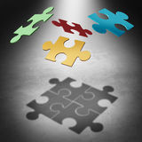 Putting The Puzzle Together Stock Images