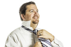 Putting on a Tie 2 Royalty Free Stock Image
