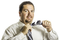 Putting on a Tie 3 Royalty Free Stock Photos