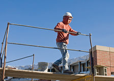 Putting Up Scaffolding Stock Photo