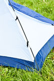 Putting up tent Stock Image