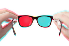Putting Your 3D glasses on Royalty Free Stock Photo