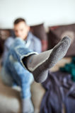 Putting your feet up Royalty Free Stock Image