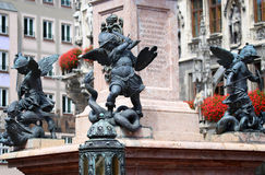 Putto Statue on the Marienplatz in Munich. German royalty free stock images