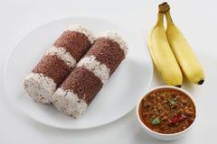 Puttu kadala curry Royalty Free Stock Images