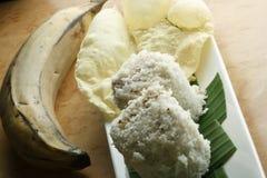 Puttu Papad - een breakastschotel van Kerala, India Stock Afbeelding