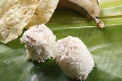 Puttu Papad - en breakastmaträtt av Kerala, Indien Royaltyfria Bilder