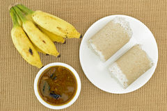 Puttu (South Indian breakfast dish) royalty free stock images