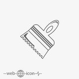 Putty knife vector icon Stock Photography