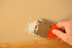 Putty Knite with Spackling Paste Royalty Free Stock Photo