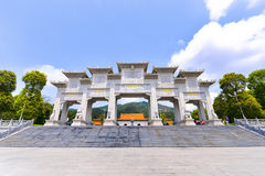 Putuo temple is one of the tourist attraction. Temple is the landmark of Zhuhai city, Guangdong, China Royalty Free Stock Images