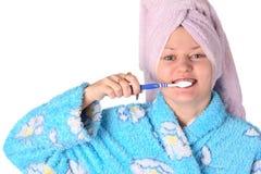 Putzen Sie Zähne Stockfoto