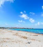 Putzu idu beach under a cloudy sky Royalty Free Stock Image