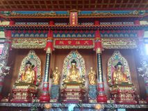 Puu Jih Shih Temple is a Buddhist temple located at the hilltop of Tanah Merah at Sandakan Bay in Sandakan, Sabah, Malaysia. The Puu Jih Shih Temple is a stock photography