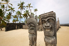 Puuhonua O Honaunau (City of Refuge) National Park, Hawaii Royalty Free Stock Images