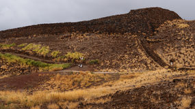 Puukohola Heiau. National Historic Site was and is still a sacred places of worship for Native Hawaiians. The site was built to fulfill a historic prophecy Stock Photography