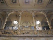 Puvis de Chavannes Gallery, McKim Building, Boston Public Library, Boston, Massachusetts, USA. Puvis de Chavannes Gallery with its arcade and famous mural Royalty Free Stock Image