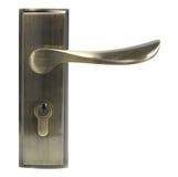 Puxador da porta da vista dianteira de bronze Fotografia de Stock Royalty Free