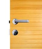 Puxador da porta de alumínio Fotografia de Stock Royalty Free