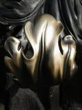 Puxador da porta de bronze velho ornamentado decorativo Imagens de Stock Royalty Free