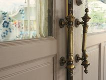 Puxador da porta do metal do vintage Imagem de Stock Royalty Free