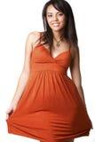 Puxando o vestido para o lado Foto de Stock Royalty Free