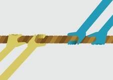 Puxando uma corda para competir ilustração do vetor