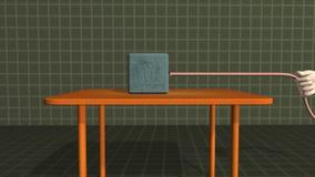 Puxando uma massa na superfície plana ilustração do vetor