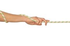 Puxar de uma corda Fotos de Stock Royalty Free