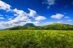 Puy de Dome βουνό και Auvergne τοπίο Στοκ Φωτογραφία