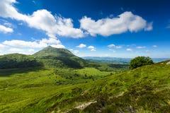 Puy de Dome βουνό και Auvergne τοπίο Στοκ Εικόνες