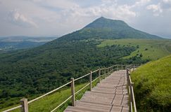 Puy de Dome, France. Dormant volcano Puy de Dome from  volcano Puy Pariou,  in the Auvergne, France Stock Image