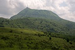 Puy de Dome, France. View on the Puy de Dome, dormant volcano in the Auvergne, France Stock Photography