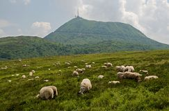 Puy de Dome, France. View on the Puy de Dome, dormant volcano in the Auvergne, France Royalty Free Stock Photography