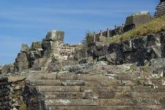 Puy de Dome mountaintop. Old roman ruins Stock Images